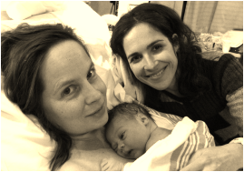 Ires with doula client after birth